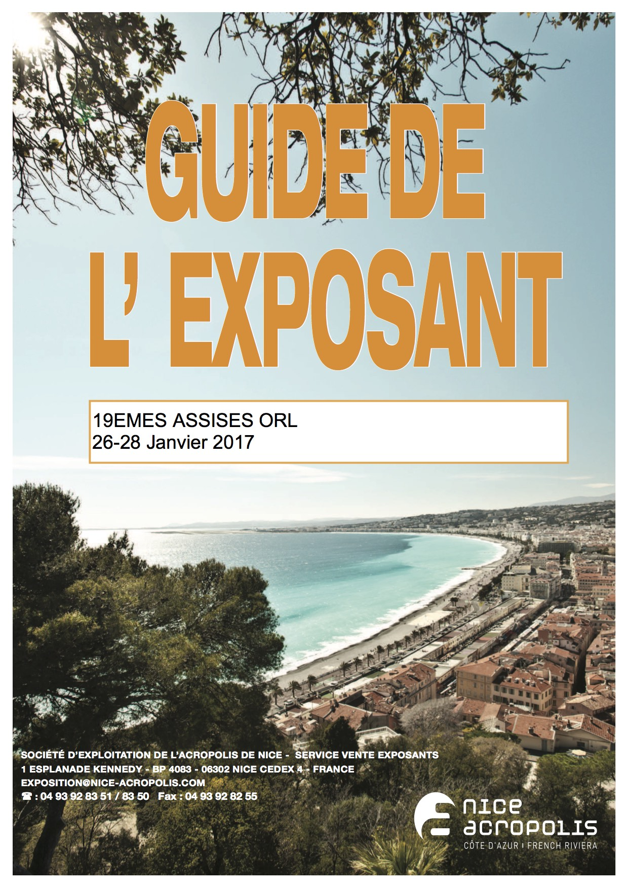 GUIDE EXPOSANT 19EMES Assises ORL